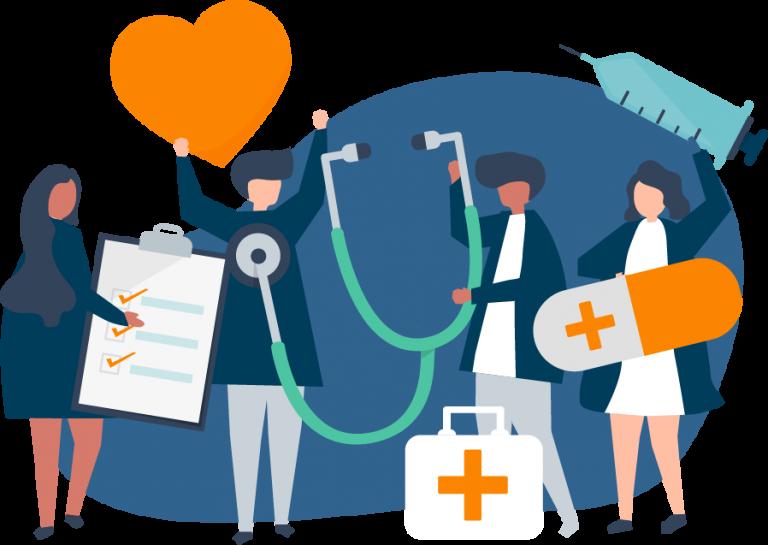 Verschieden Gesundheitsartikel