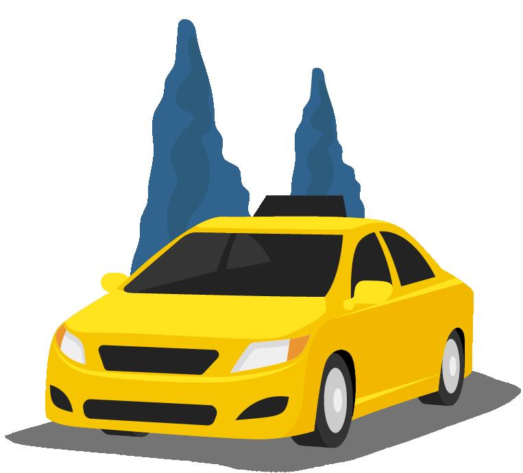 Ein best.ways.taxi Fahrzeug